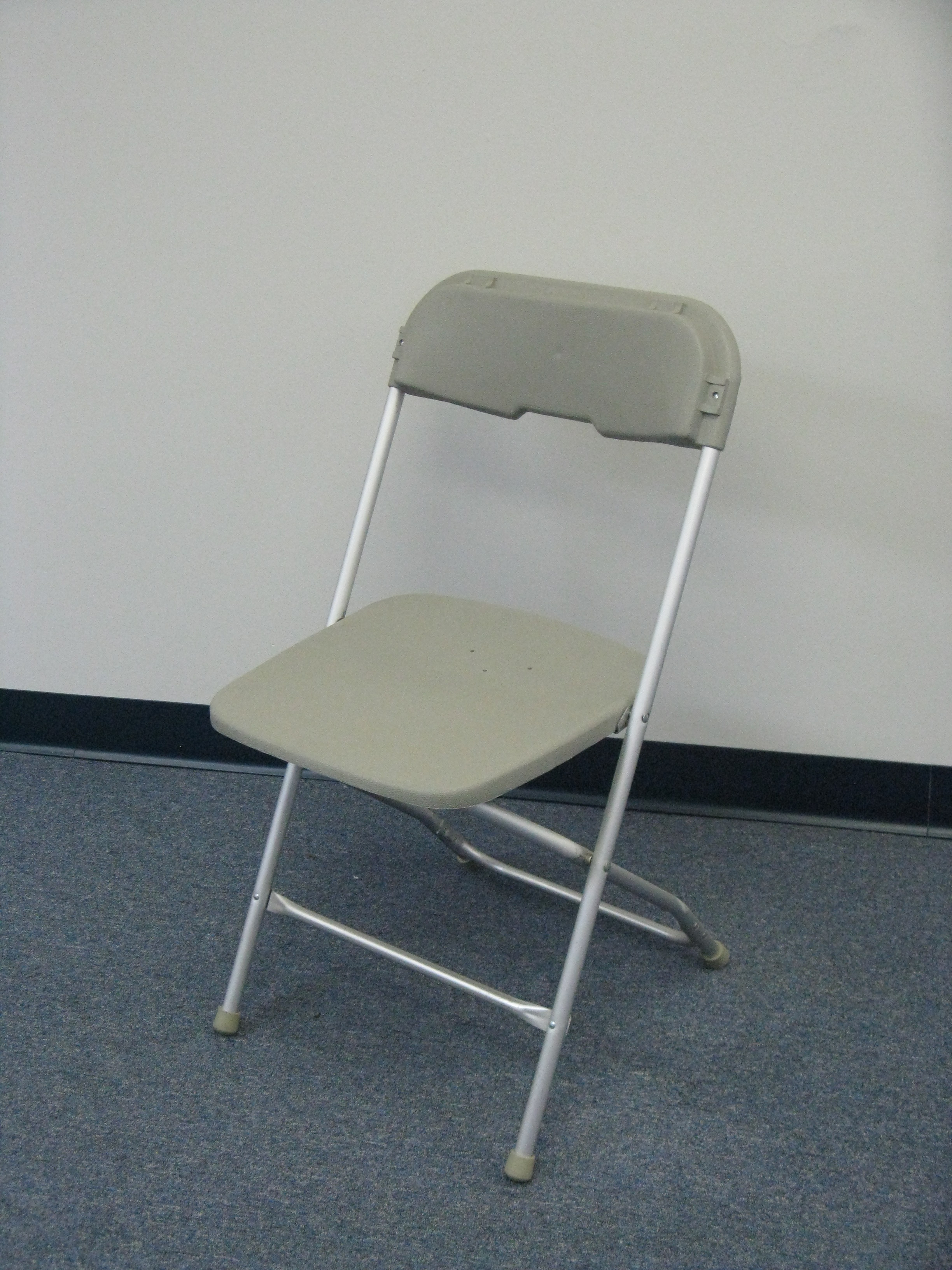 Folding Chairs for rent grey or white with padding