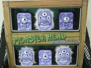 carnival game monster head knock down