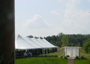 40x120 pole tent wedding plymouth mi