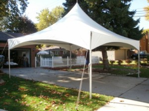 20x20 frame tent graduation party novi mi