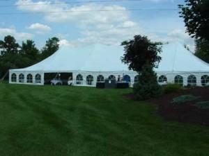 window sidewall on 40x120 pole tent wedding plymouth mi