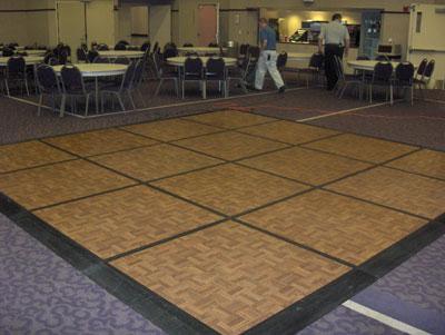 4x4 section oak parquet dance floor for 12 by 12 dance floor
