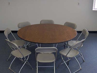 Round Party Tables For Rent - 48 inch round conference table