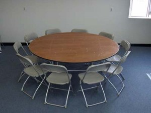 72 inch round table with chairs
