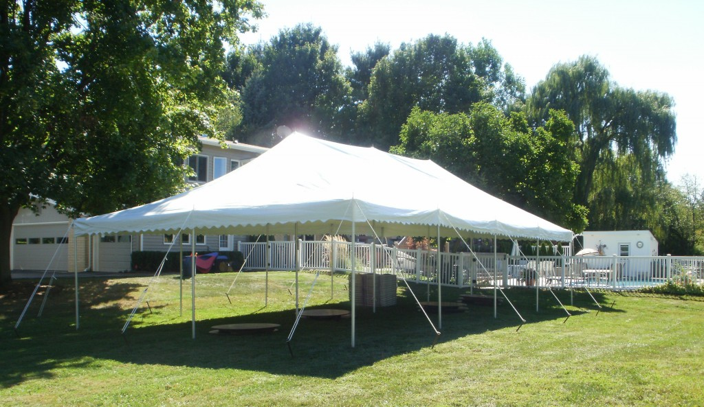 20x40 canopy pole tent graduation party novi michigan