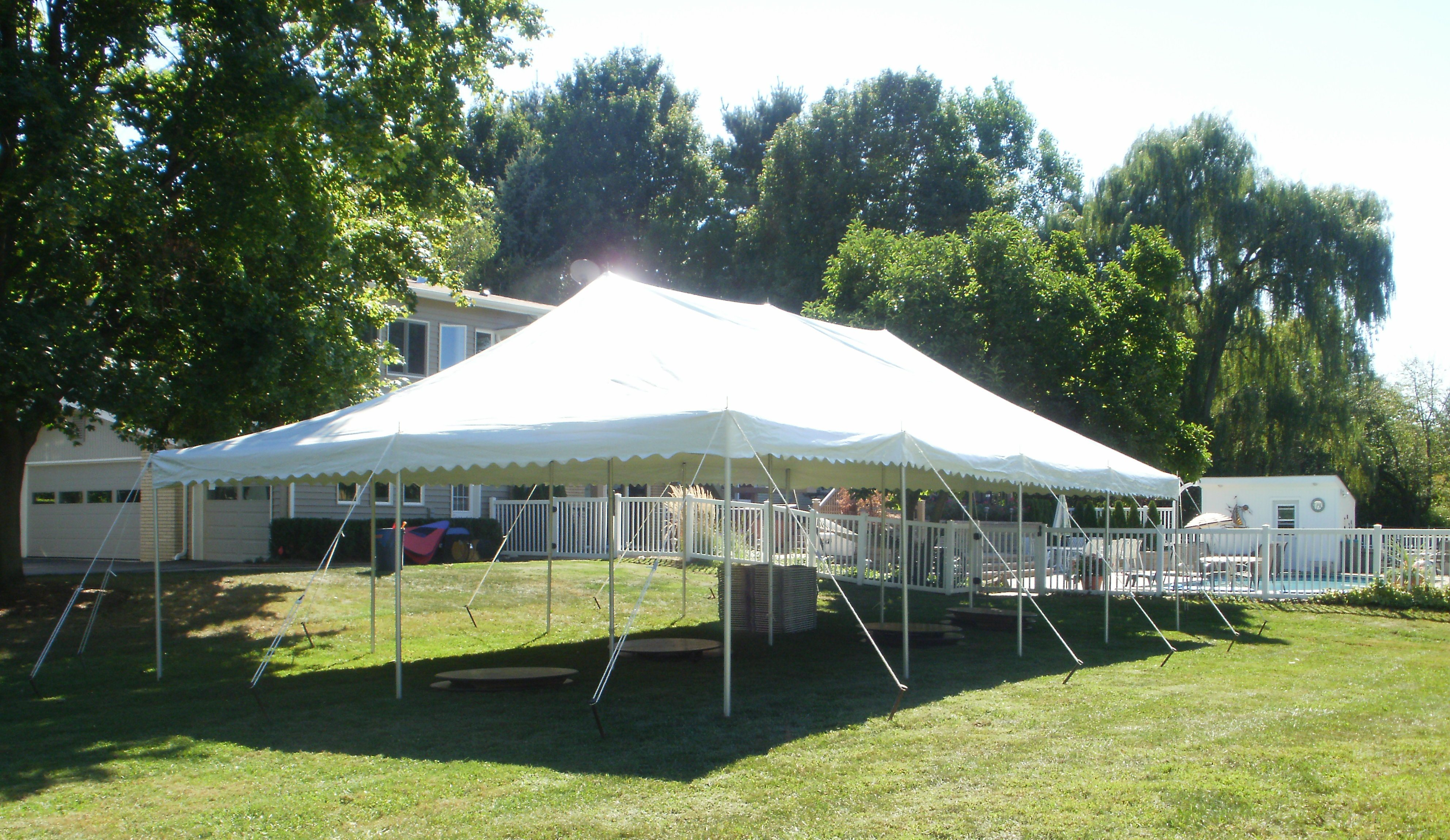 20x40 canopy pole tent graduation party novi michigan & 20 x 40 Canopy Pole Tent