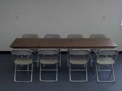 8 foot banquet table seats 8