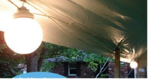 10 globe light string tent lighting