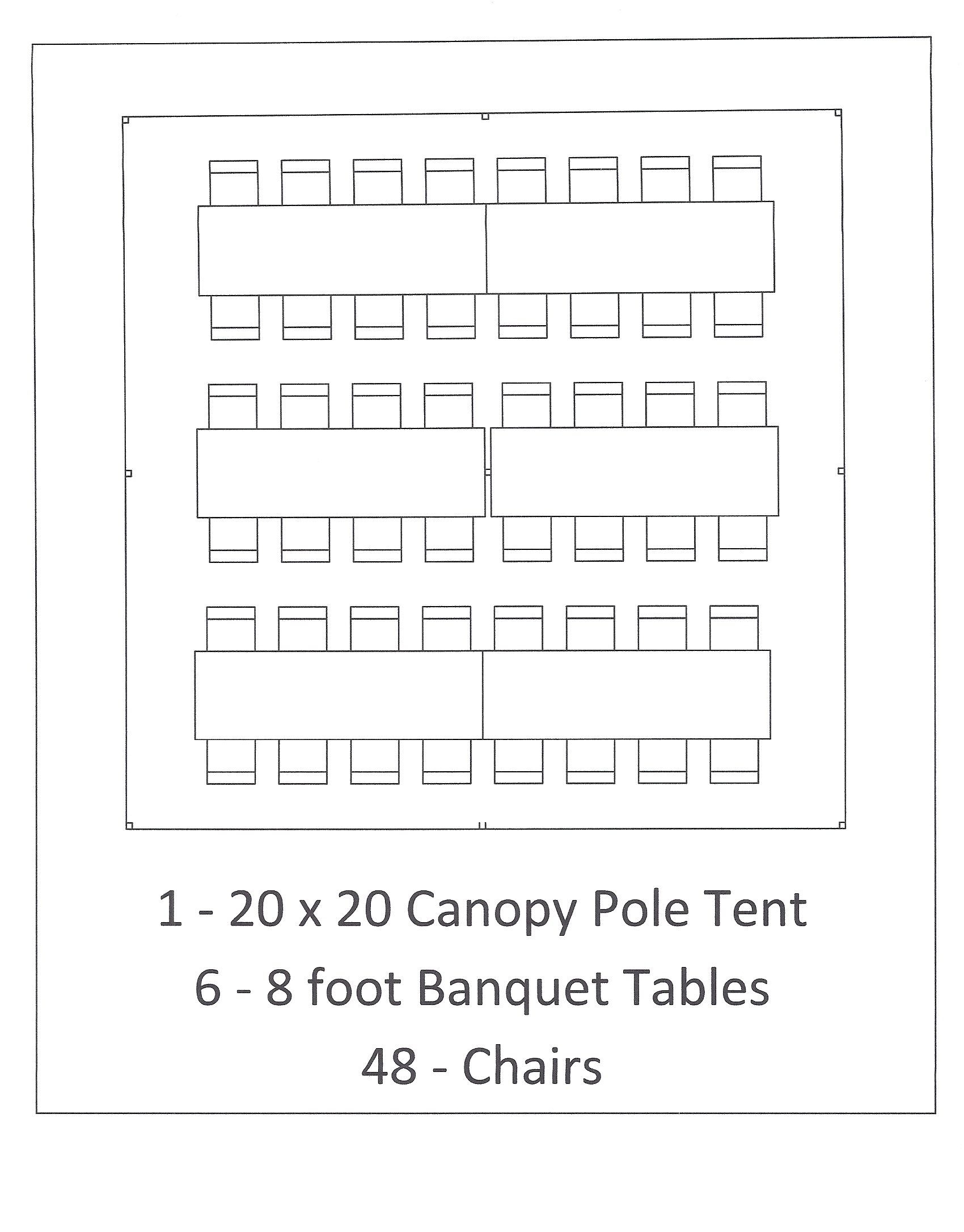 8 ft tables seating