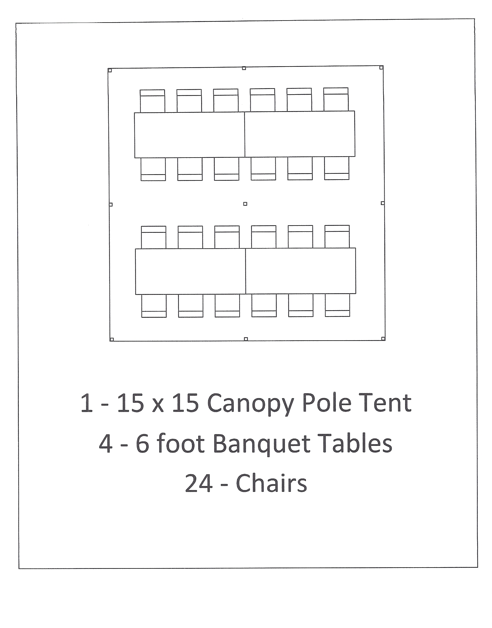 15x15 canopy pole tent with 6 foot table seating ...  sc 1 st  Canton Canopies & 15x15 Canopy Pole Tent