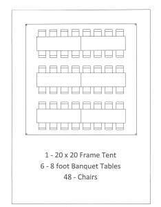20x20 frame tent graduation party south lyon mi