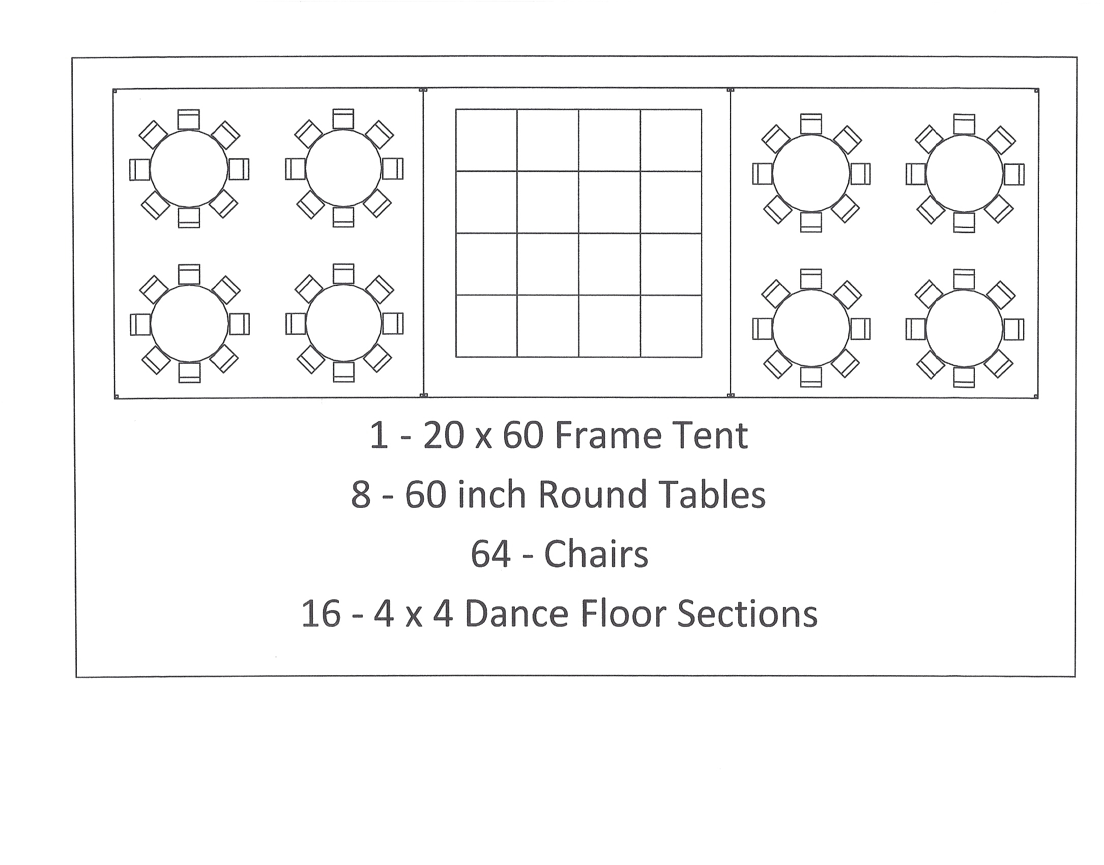 ... 20x60 frame tent 60 inch table seating wedding canton mi  sc 1 st  Canton Canopies & 20 x 60 Frame Tent | Canton Canopy