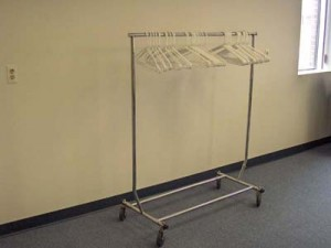 coat rack with 50 hangers