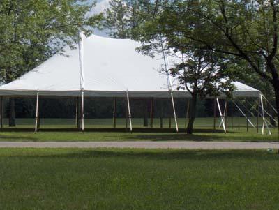 30x45 company picnic pole tent in Livonia