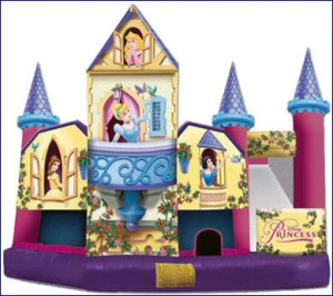 disney princess 5 in 1 combo bounce house jumper