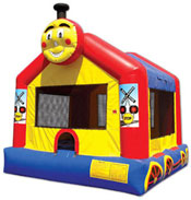 train bounce house jumper