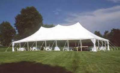 30x60 pole tent wedding Plymouth