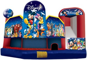 world of disney 5 in 1 combo bounce house jumper