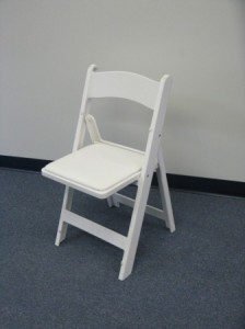 white wedding padded seat chair