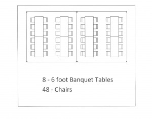 15x30 frame tent banquet table seating