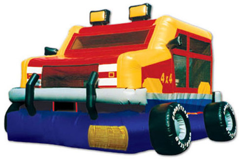 monster wheels bounce house jumper big