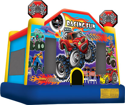 racing fun bounce house jumper big