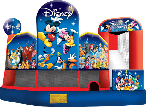 world of disney 5 in 1 combo bounce house jumper big