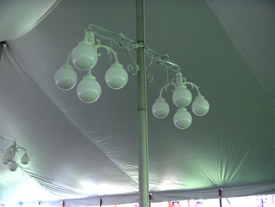 4 Globe Chandelier Light Canton Canopy